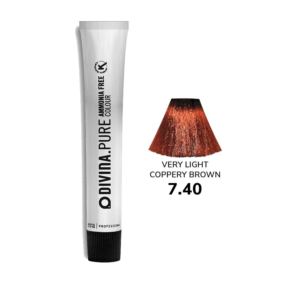 Divina.Pure Copper no 7.40 Very Light Coppery Brown