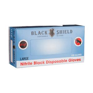 Black Shield Disposable Gloves Large 100pk