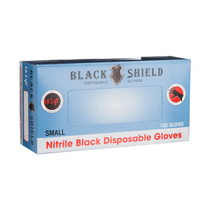 Black Shield Disposable Gloves Small 100pk