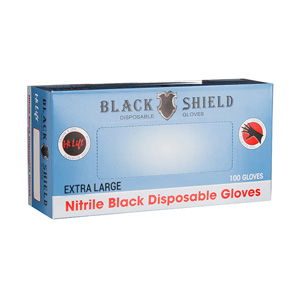 Black Shield Disposable Gloves Extra Large 100pk