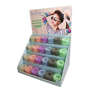 Spiradelic Hair Rings - Counter Stand - Pastel